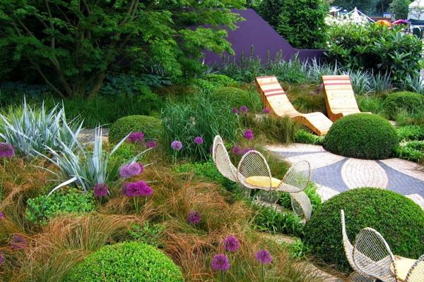 зона отдыха в саду своими руками фото